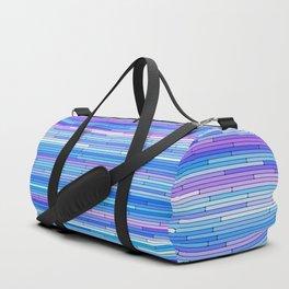 Blue Purple Random Lines Duffle Bag