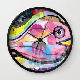 Fish Panting for a Drink with Hemingway in Havana Wall Clock
