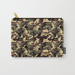 Green Brown Camouflage Pattern Carry-All Pouch