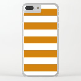 Asda Orange (1968) - solid color - white stripes pattern Clear iPhone Case