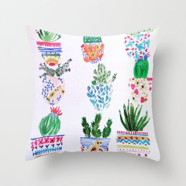 Cacti Throw Pillow