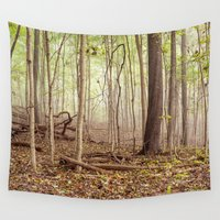 indiana Wall Tapestries featuring Indiana woods by Bonnie Jakobsen-Martin