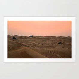 Arabian Desert Sunset Art Print