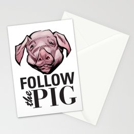 DSA - Follow the Pig Stationery Cards