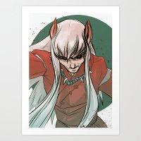 inuyasha Art Prints featuring Inuyasha by LaurenceBaldetti