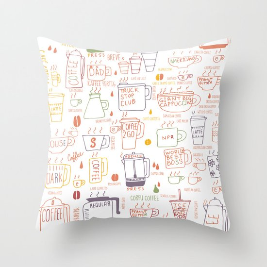COFFEE IS DIVERSE Throw Pillow