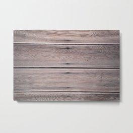 Image Of Old Wooden Sheathing Metal Print