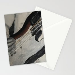 guitar onstage Stationery Cards