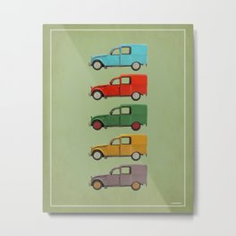 Five Fourgonnettes Metal Print