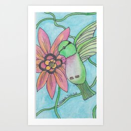 Hummingbird #1 Art Print