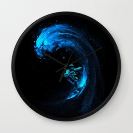 Space Surfer Surfing Wall Clock