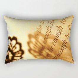 Words number 5 Rectangular Pillow