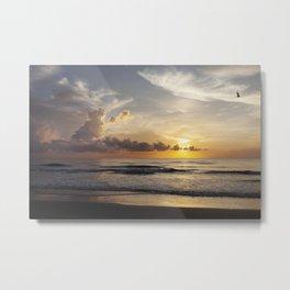 Sunrise over Water Metal Print