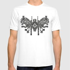 Simplicity  MEDIUM Mens Fitted Tee White
