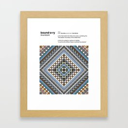 Boundaries (Manmade) Framed Art Print
