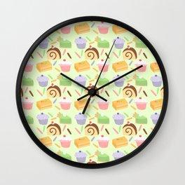 Cute Cake Pattern Wall Clock
