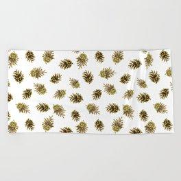 Pine cones pattern. Nature Beach Towel