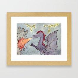 Dragon's Attack Framed Art Print