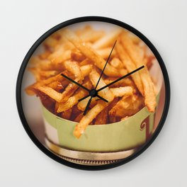 Fries in French Quarter, New Orleans Wall Clock