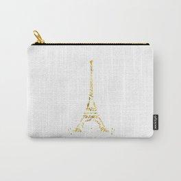 Digital-Art Eiffel Tower   golden Carry-All Pouch
