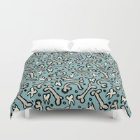 bones Duvet Covers featuring Bones by Elly Whiley