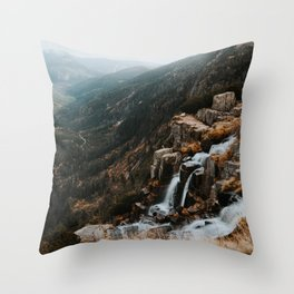 Autumn falls - Landscape and Nature Photography Throw Pillow