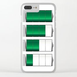 Battery Charge Indicator Clear iPhone Case