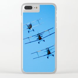 Avalon Airshow - Tiger Moths Clear iPhone Case