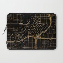 Black and gold Atlanta map Laptop Sleeve