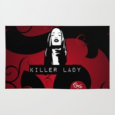 KILLER LADY LOGO ONE  Rug
