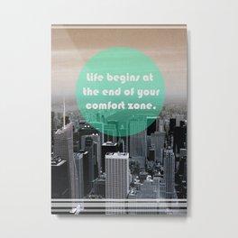 Life Begins  Metal Print