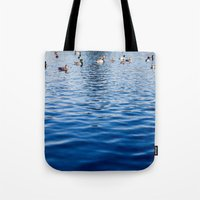 ducks Tote Bags featuring Ducks by Ali Bee