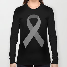 Gray Awareness Support Ribbon Long Sleeve T-shirt