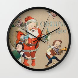 It's All Started With a CrossStitch: Pixelated Pissed Off Santa Claus Wall Clock