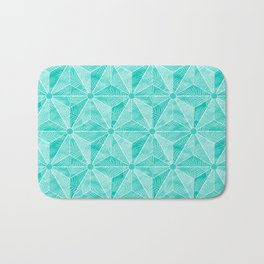 Geodesic Palm_Turquoise Bath Mat