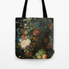 Jan van Huysum - Still Life with Flowers and Fruit Tote Bag