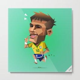 Minirobguns Neymar Metal Print