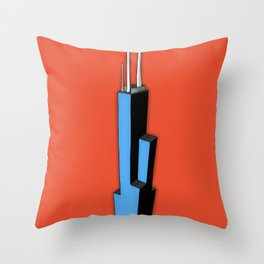 Sears Tower Throw Pillow