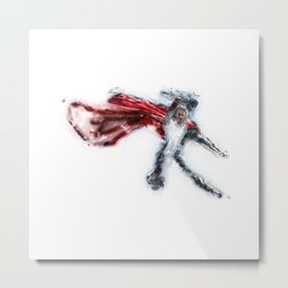 One Punch Thor Metal Print