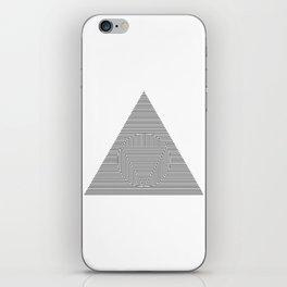 Triangle Circle Triangle iPhone Skin