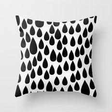 Black drops Throw Pillow