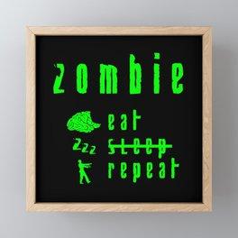 zombie Framed Mini Art Print