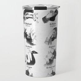 Hand Shadows Travel Mug