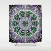 stained glass Shower Curtains featuring Stained Glass  by IowaShots