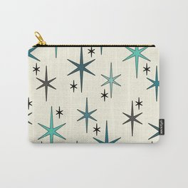 Mid Century Modern Star Sky Turquoise Carry-All Pouch