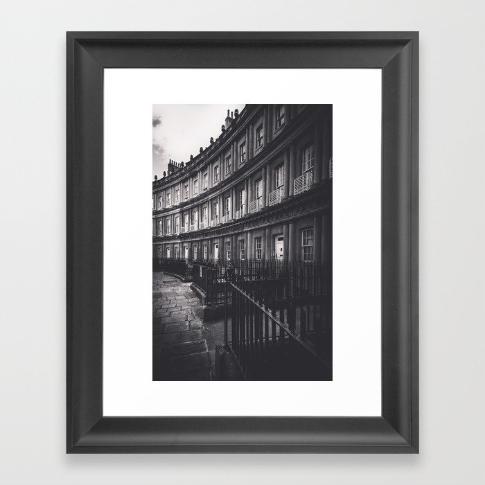 Bath Spa Streets Framed Art Print