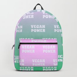 Vegan Power Vegetarian Workout Backpack