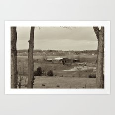 Behind The Barn Art Print