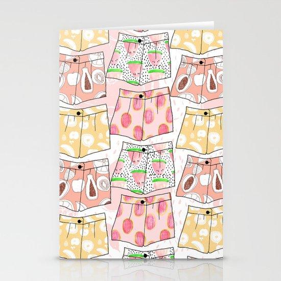 Fruity Pants Pattern Stationery Cards