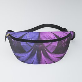 Beautiful Blue and Lilac-Violet Starling Feathers Fanny Pack